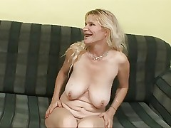 blonde mom and boy