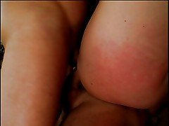 Sexy slut gives guy BJ and gets ass spanked and fucked by other cock