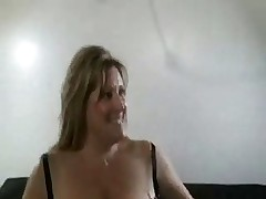 Hot Busty BBW Cougar Banged On Couch