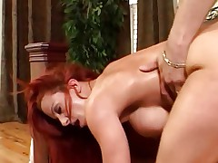 Hot Busty Redheaded Cougar Banging Younger