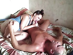 Russian mature couple at home 7
