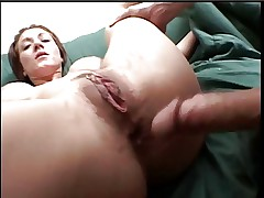 Brunette with huge natural tits fingers herselfthen gets fucked