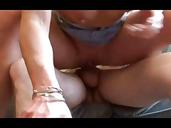 British slutty mom loves young cock